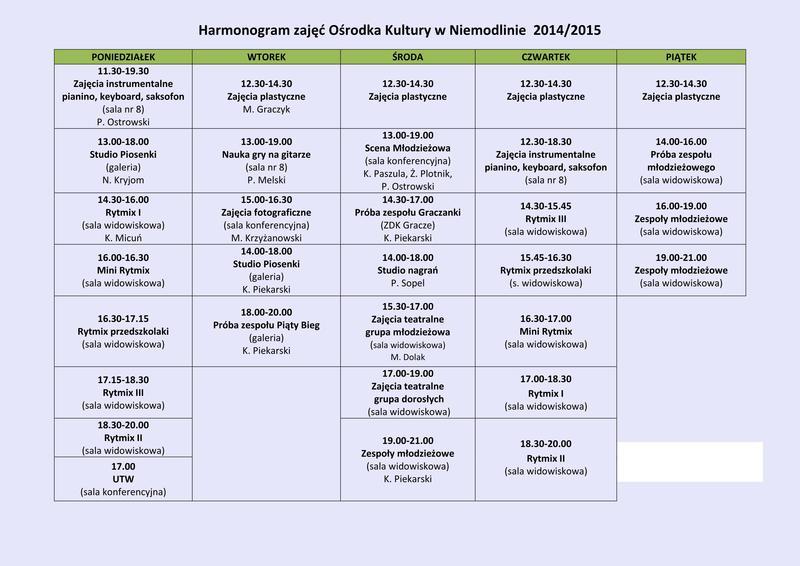 Plan zajęć Ośrodka Kultury 2014-2015.jpeg
