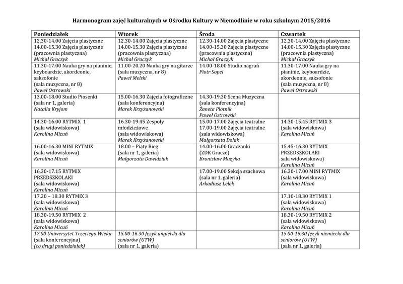 Harmonogram zajęć OK Niemodlin 2015-2016.jpeg