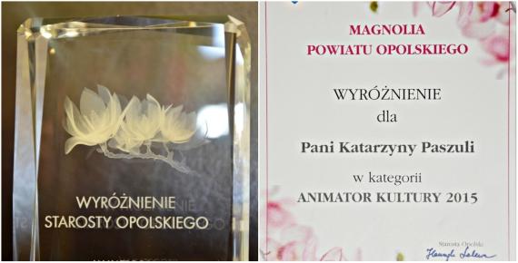 Wyróżnienie dla dyrektor Katarzyny Paszuli